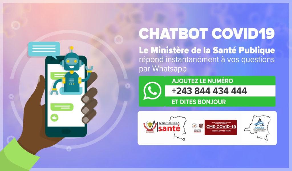 RDC: Le ministère de la Santé lance un ChatBot pour informer la population sur la Covid- 19