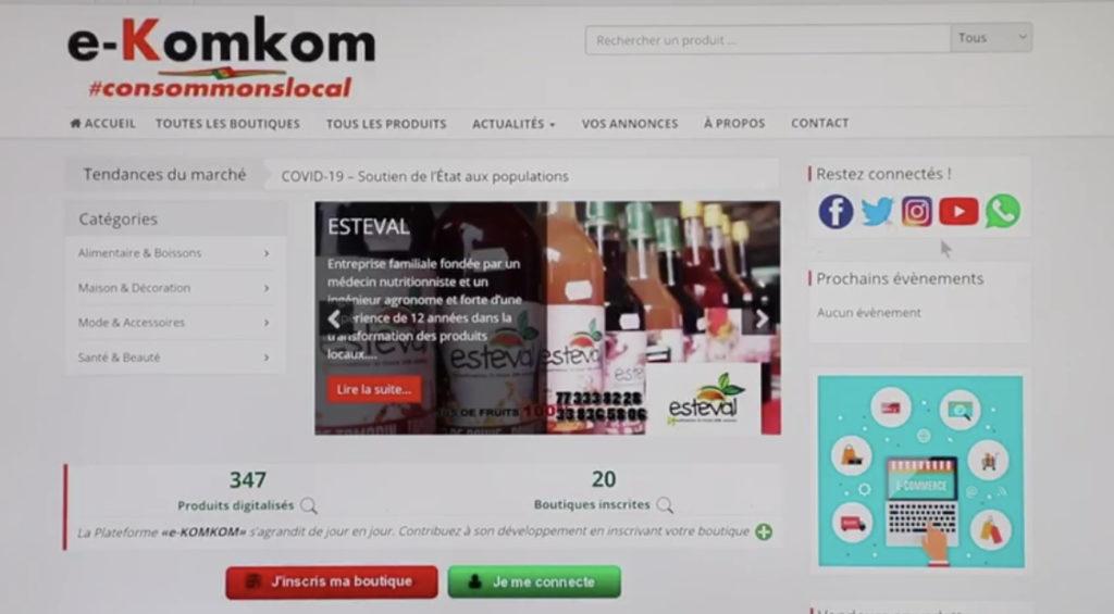 Consortium national pour le e-commerce: Lancement de deux plateformes en ligne