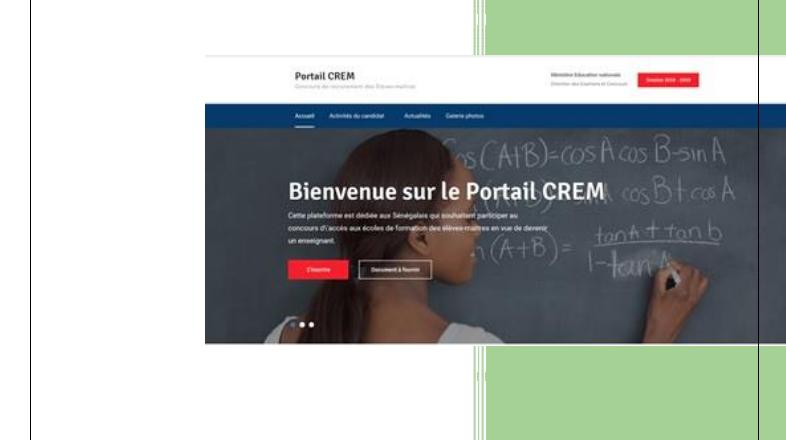 Concours CREM: Comment s'inscrire en ligne?