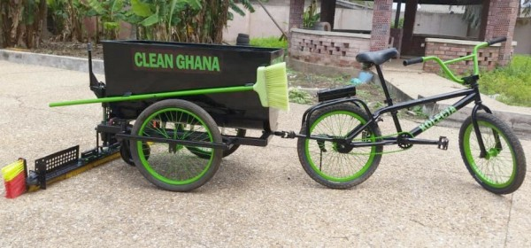 Ghana: Un jeune ingénieur invente un vélo de balayage