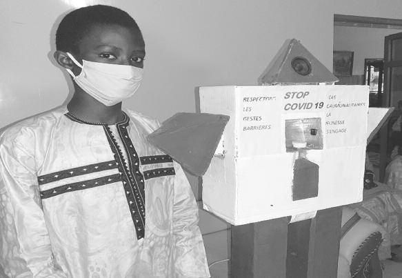 Un élève en classe de seconde crée un robot qui lutte contre la covid-19