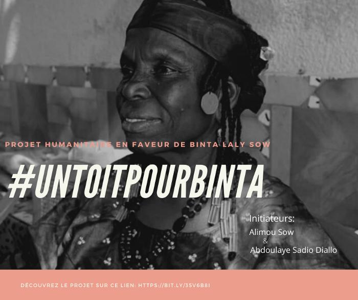 #UnToitPourBinta : un projet humanitaire en faveur de l'artiste Binta Laly Sow