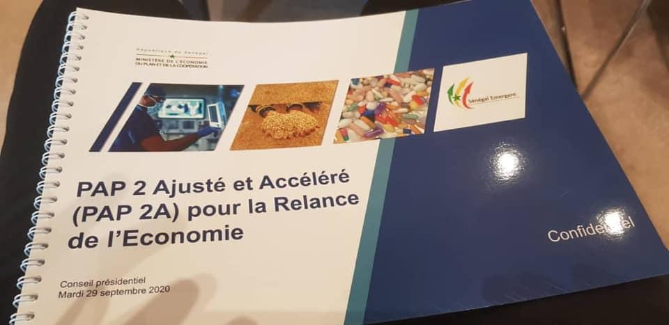 Sénégal- Relance économique : Le Pap 2A estimé à 14712 milliards de francs CFA