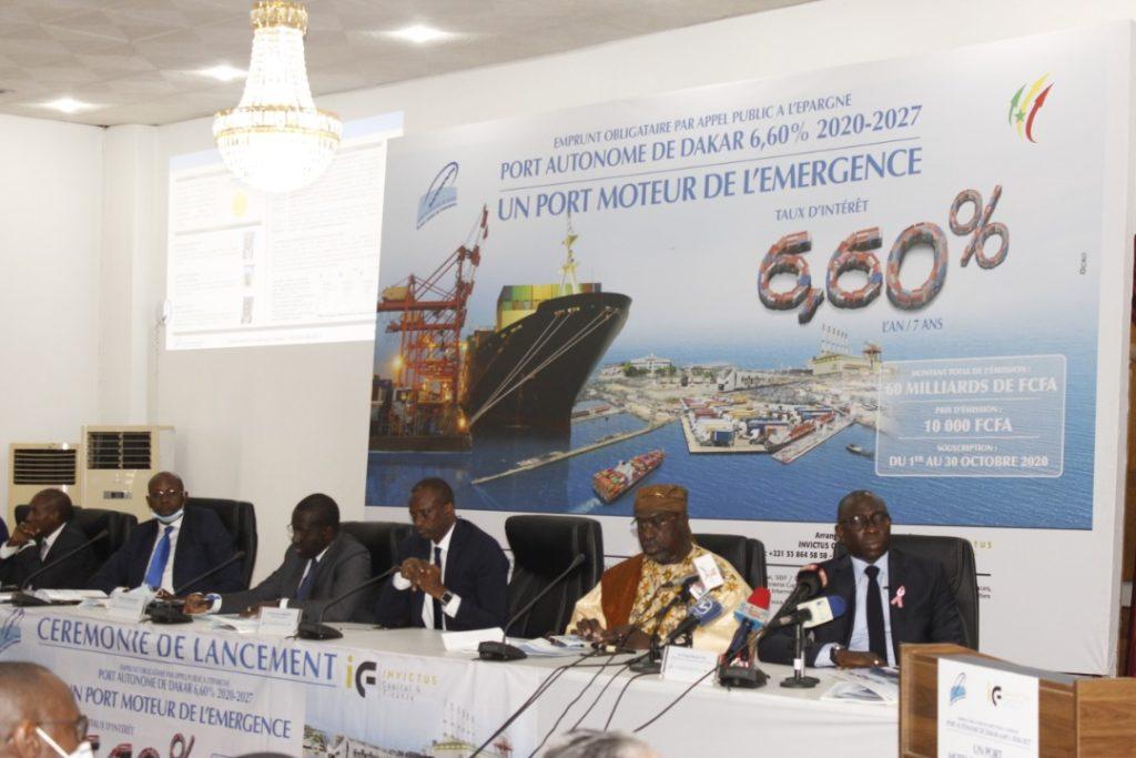 Construction du Port de Ndayane: Le PAD lance un emprunt de 60 milliards de FCFA