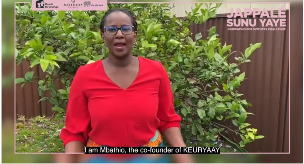 Innovating for Mothers : Keur Yaye, remporte le challenge 2020