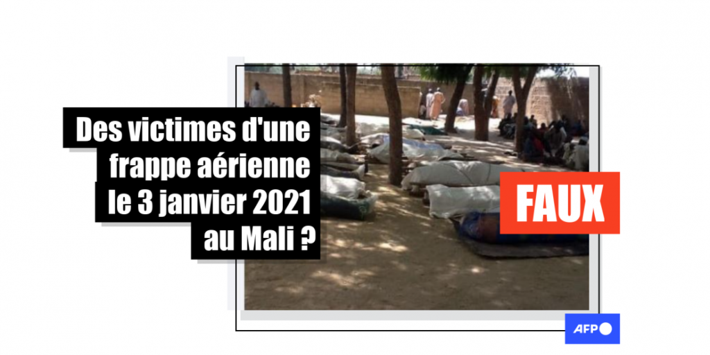 Des victimes d'une frappe aérienne le 3 janvier 2021 au Mali?