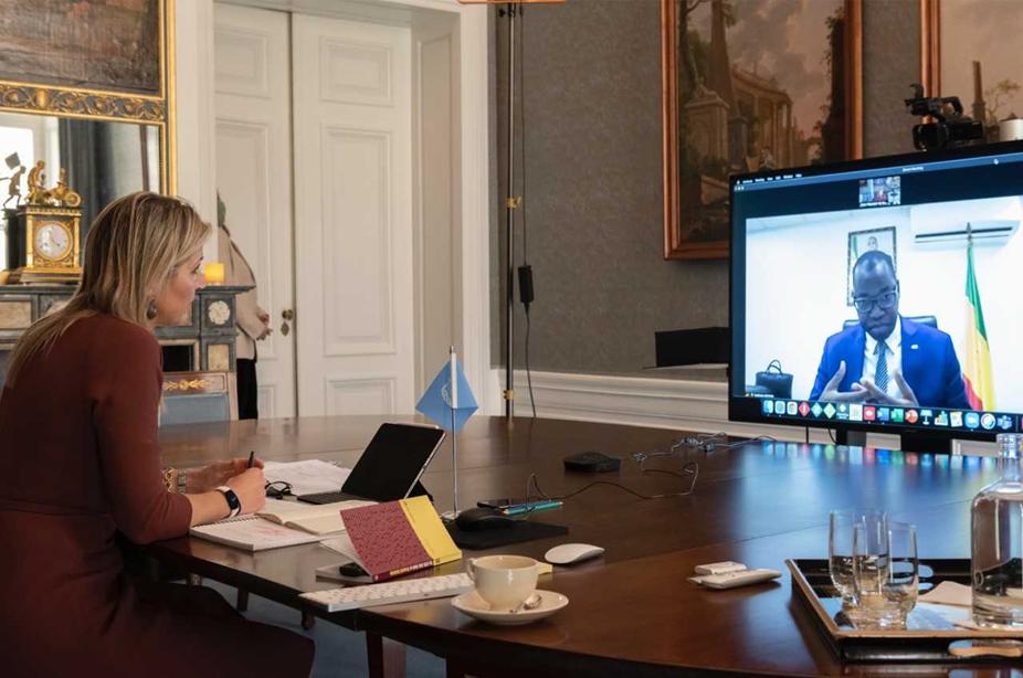 Entretien virtuel entre La Reine Máxima du Royaume des Pays-Bas et le Minstre Yankhoba Diattara