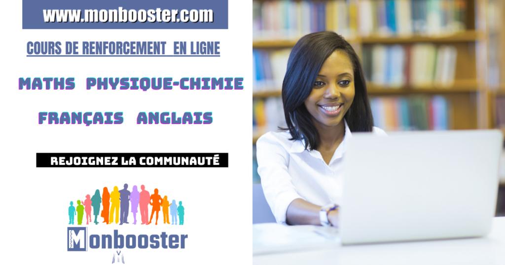 Monbooster, la plateforme qui dispense des cours de renforcements aux collégiens