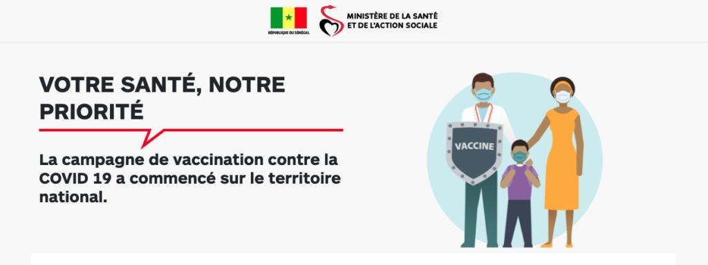 Demande de vaccination contre la Covid-19: Le Ministère de la santé lance  une plateforme de recensement