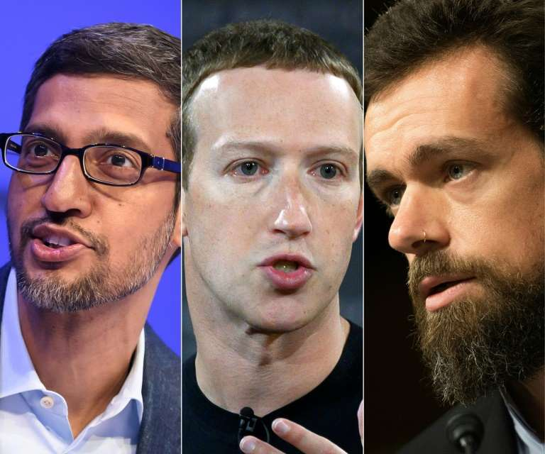 Désinformation: Les patrons de Facebook, Twitter et Google convoqués par des élus américains