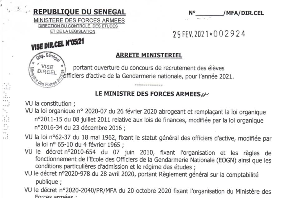 Concours Sous- Officier de la Gendarmerie: Conditions d'inscription et épreuves