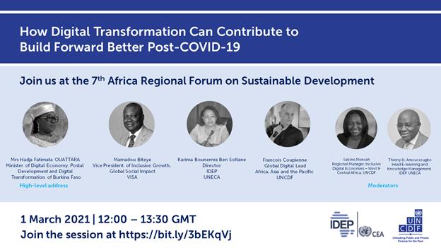 « Comment la transformation numérique peut contribuer à construire un avenir meilleur post covid-19 »