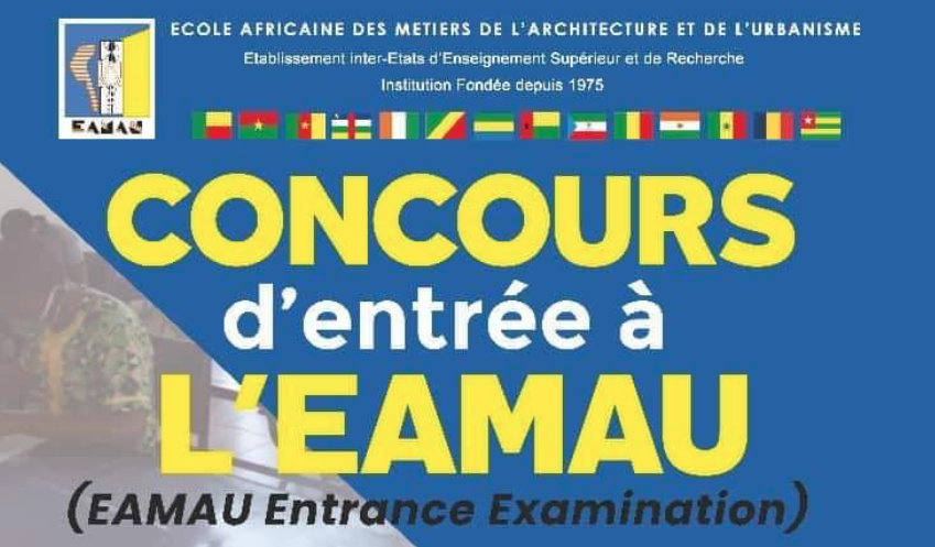 Concours d'entrée à l'École Africaine des Métiers de l'Architecture et de l'Urbanisme