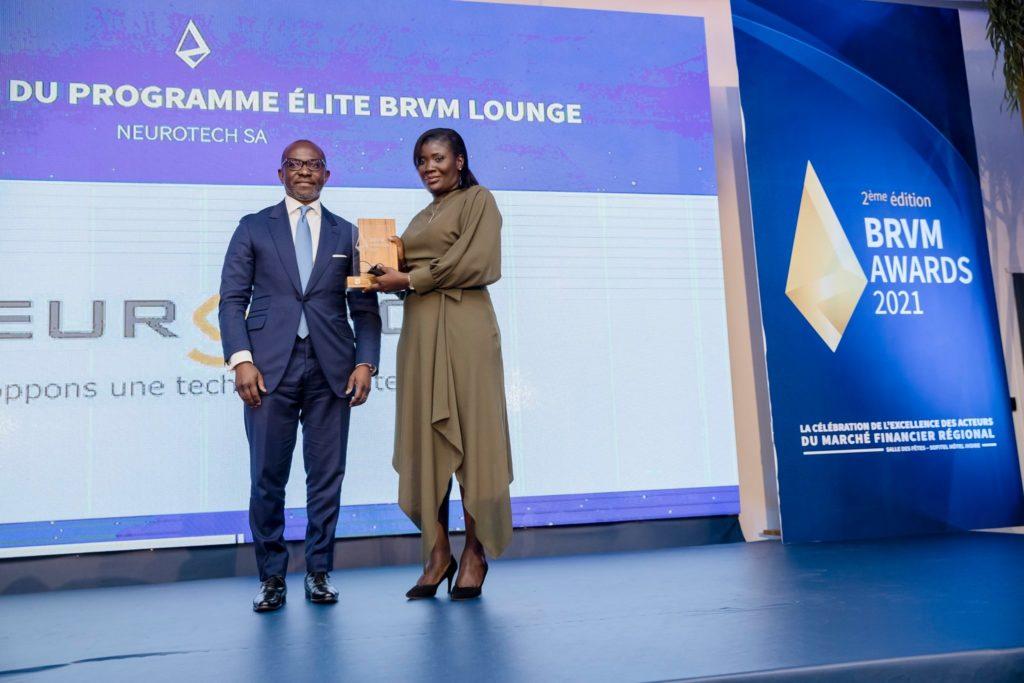 BRVM AWARDS 2021: Neurotech, meilleure PME du Programme Elite