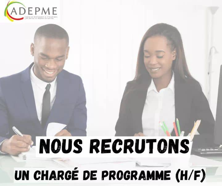 L'ADPME recrute un(e) chargé(e) de Programme