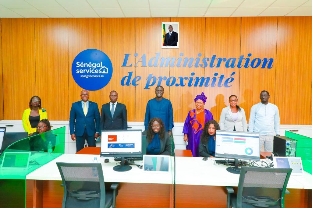 Soham Wardini en visite à l'Espace Sénégal Services de Dakar