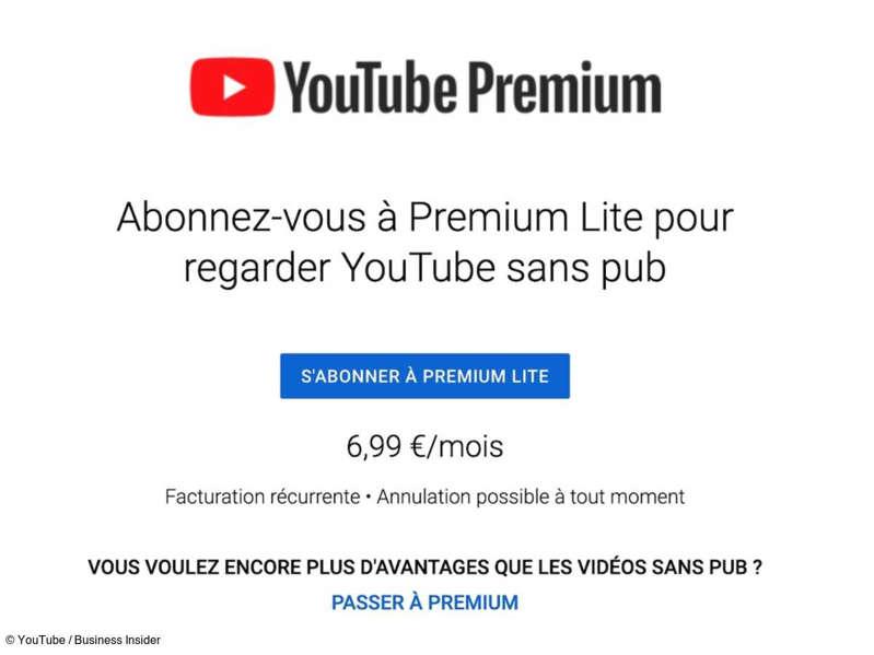 Publicités durant les vidéos : YouTube teste une offre pour s'en débarrasser