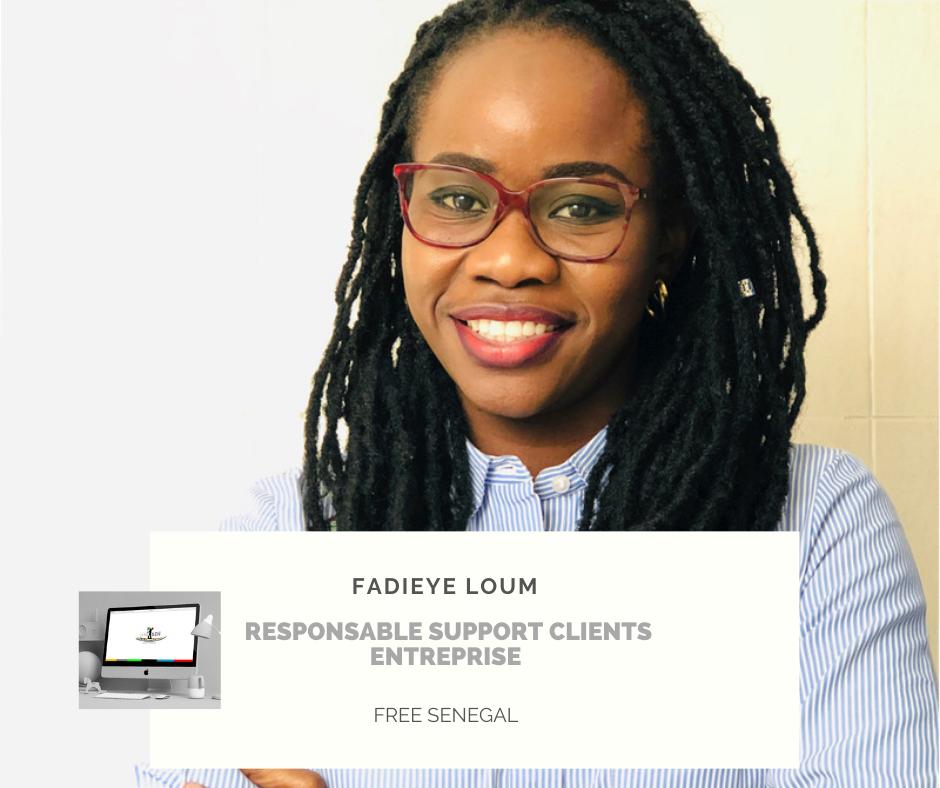 Portrait Fadieye Loum, Responsable Service Support Commercial B2B Free Sénégal